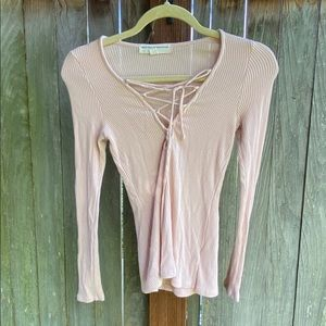 Urban Outfitters Ribbed Lightweight Long Sleeve